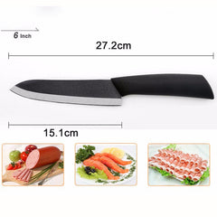 "High quality Kitchen knife  black blade kicthen ceramic knife set 3"" 4"" 5"" 6"" inch + peeler + Acrylic Holder/stand - Slabiti"