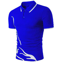 Summer Polo Solid Color Shirt Men - Slabiti