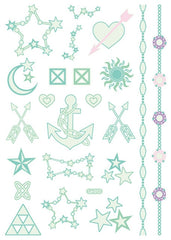 BalleenShiny Luminous Tattoos Glow In The Dark Children's Temporary Tattoos Kids Christmas Fluorescent Waterproof Cute Stickers - Slabiti
