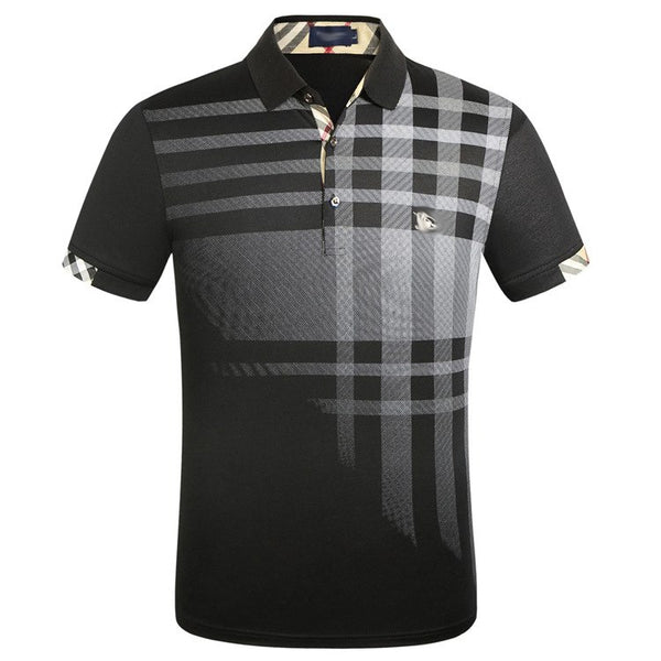 New Polo Shirt Brands 2019 Men Short Sleeve Fashion Casual Slim Deer Embroidery Printing Men Polos XXXL - Slabiti