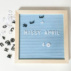 Beautiful Felt Letter Board Wooden Frame Changeable Symbols Numbers Characters Message Boards for Home Office Decorative Boards - Slabiti