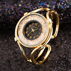 Bayan Kol Saati Top Brand Luxury Gold Women Crystal Watches Fashion Casual Ladies Bangle Bracelet Watch Female Clock Reloj Mujer - Slabiti