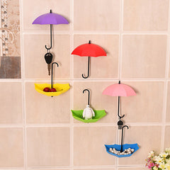 New Umbrella Wall Hook 3pcs/set Cute Umbrella Wall Mount Key Holder Wall Hook Hanger Organizer Durable Key Holder - Slabiti