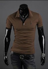 Hot Mens Polo Shirt Brands Male Short Sleeve - Slabiti