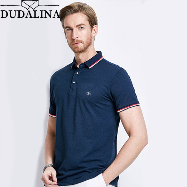 Dudalina Short Sleeve Polo Shirt Men 2019 Summer Casual & Business Brand  Embroidery Striped Polos Shirts - Slabiti