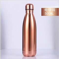 500/1000ml Double-Wall Insulated Vacuum Flask Stainless Steel Water Bottle Cola Water Beer Thermos for Sport Bottle - Slabiti