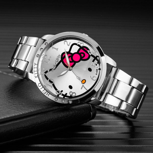 Cartoon Watches Women Quartz Watch Stainless Steel Rhinestone Watches Ladies Clock Reloj Mujer Hodinky Ceasuri - Slabiti