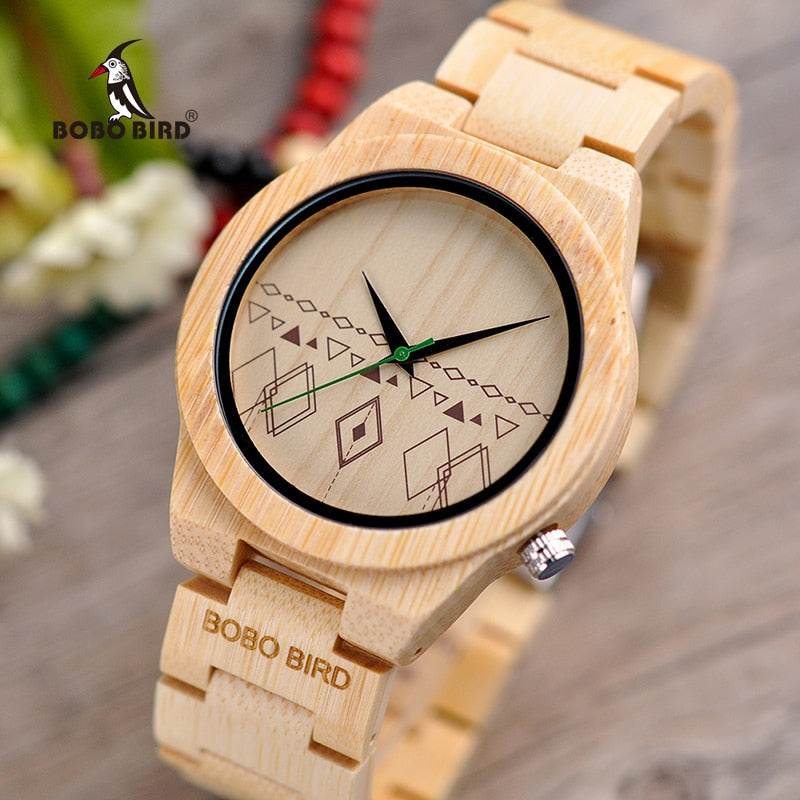 relogio masculino BOBO BIRD Men Watches Bamboo Wooden Timepieces Quartz Wristwatches in Wood Box Accept Logo Drop Shipping - Slabiti