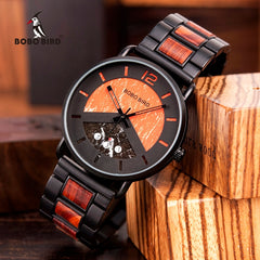 relogio masculino BOBO BIRD New Men Watch Luxury Stylish Wooden Timepieces Chronograph Military Quartz Watches Men's Great Gifts - Slabiti