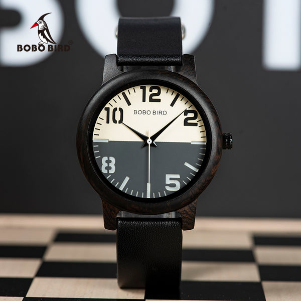 relogio masculino BOBO BIRD Wooden Watch Men Water Resistant Timepieces Japan Movement Quartz Watches in Wood Gift Box - Slabiti