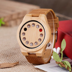 reloj hombre BOBO BIRD Men Watch Bamboo Quartz Watches Luxury Brand Design Wood Wristwatches Special Gift for Men W-D08 - Slabiti