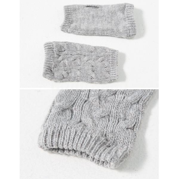 yesmqn Mens Wool Thicken Fingerless Gloves - Slabiti