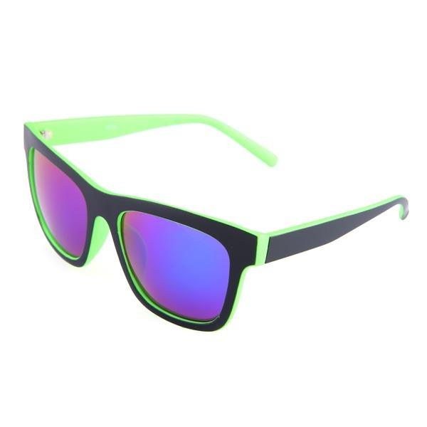 Mens Women Green Red Frame Coating Resin Frame UV400 Sunglasses - Slabiti