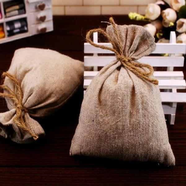 50X50cm Natural Jute Burlap Hessian Fabric DIY Craft Material - Slabiti