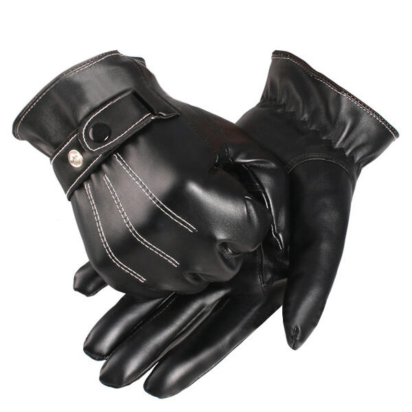Touch Screen Gloves Winter Motorcycle Mens Driving Warm Luxurious - Slabiti
