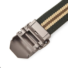 125CM Men Canvas Belt Thickening Alloy Buckle Pants Strip - Slabiti