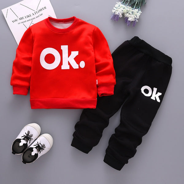 winter boys 2019 clothing sets cartoon thicken outfits casual sports sets warm outerwear children boys brand tracksuits - Slabiti