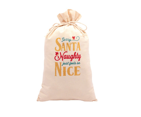 Naughty Feels So Nice Santa Bag