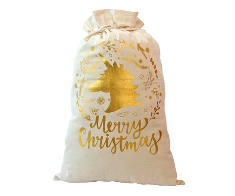 Unicorn Santa bag/ Sack