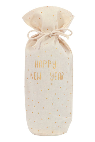 Happy New Year Wine Bag