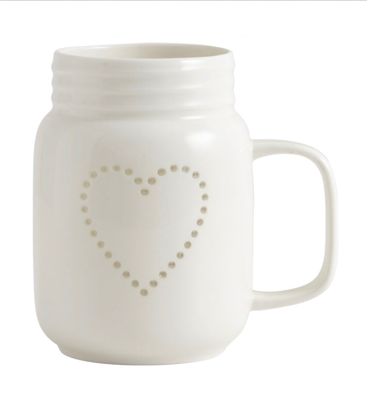 Ceramic Heart Mug / T Light Holder