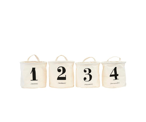Set of 4 House Doctor 1-2-3-4 Storage Bags