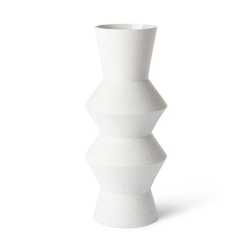 HK Living Speckled clay vase Angular - Large