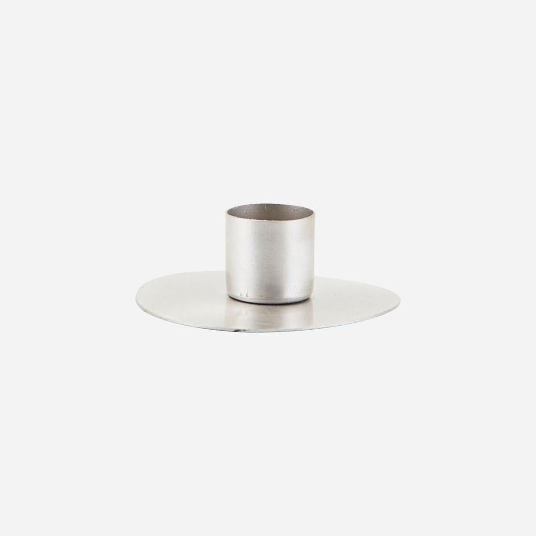 House Doctor Circle Candle Holder in Silver