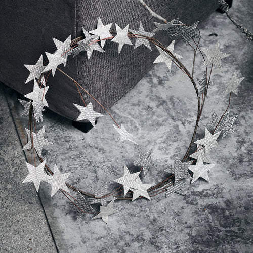House Doctor Silver Star Wreath