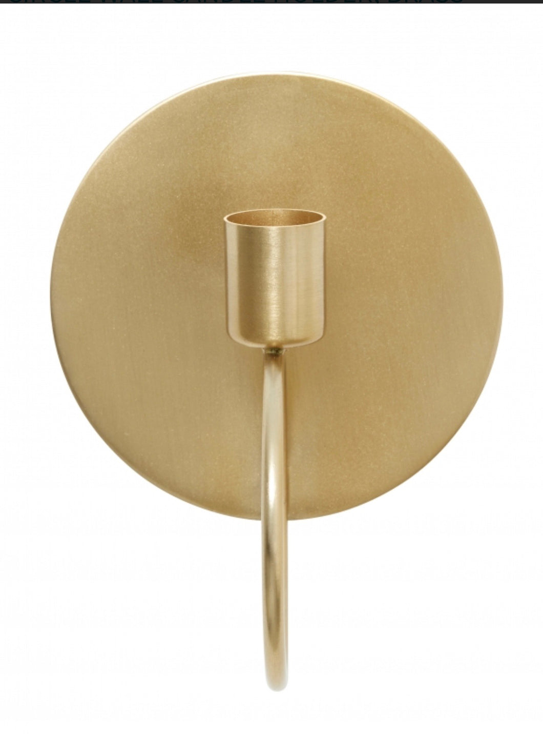 Brass Coloured Circle Candle Holder