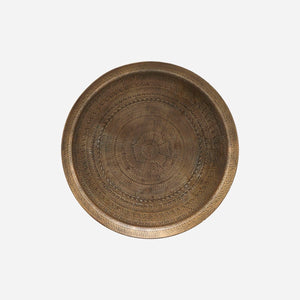 House Doctor Jhansi Tray in Antique brass finish