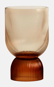 Nordal Riva Brown Glass Candleholder / Vase