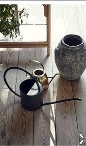 Nordal Large Black Watering Can