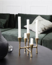 House Doctor Tristy Brass Finish Candle Stand