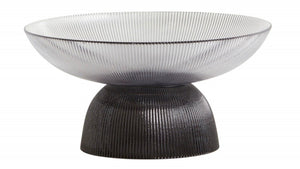Nordal Riva Glass Black Bowl DELIVERY LATE FEB