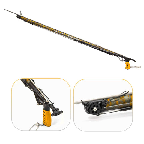 HuntMaster (Coming Soon) Wigun Aluminium Invert Roller Speargun - Camo Series (Blaze) 75cm-110cm