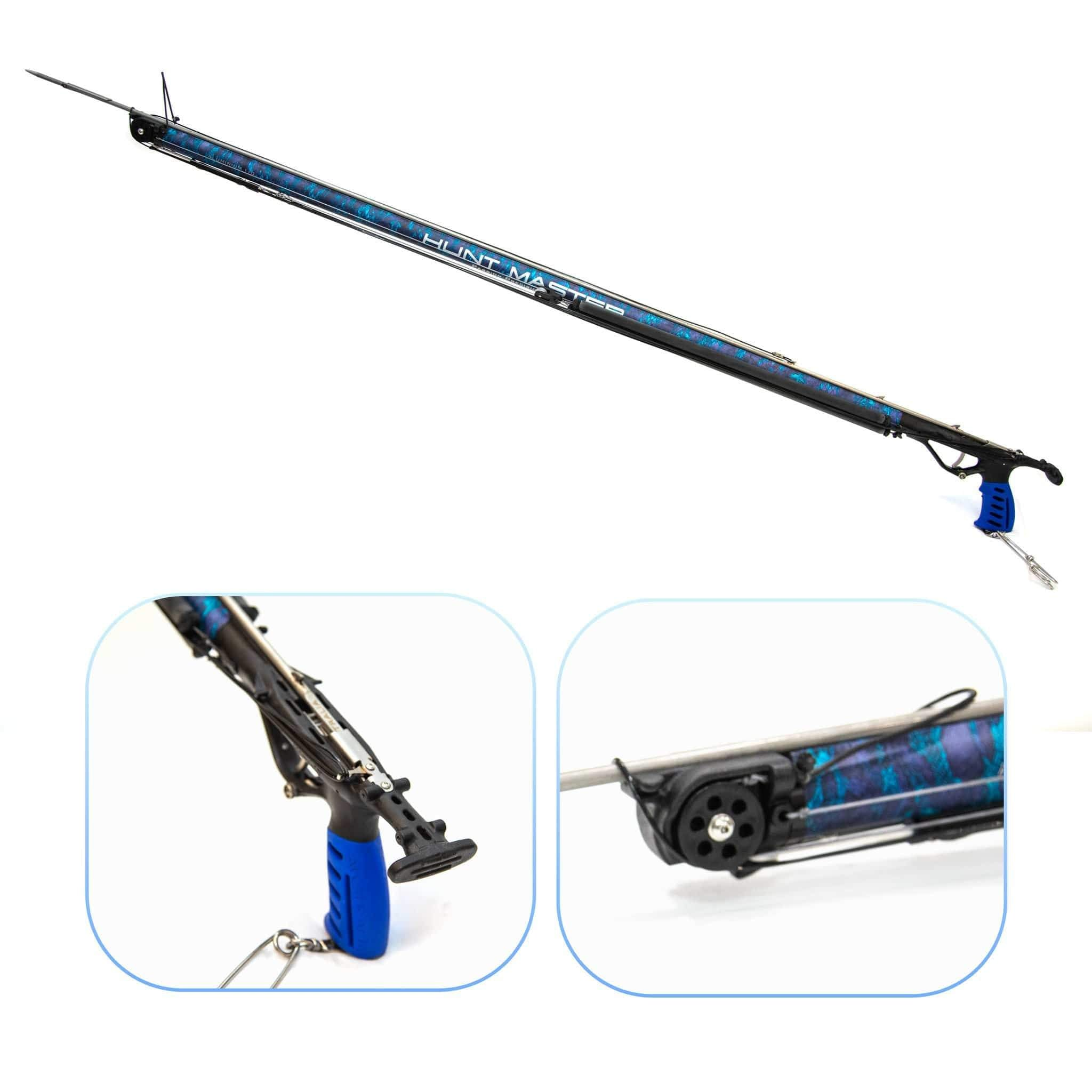 HuntMaster (Coming Soon) Wigun Aluminium Invert Roller Speargun - Camo Series (Blue) 75cm-110cm