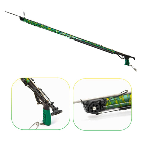HuntMaster (Coming Soon) Wigun Aluminium Invert Roller Speargun - Camo Series (Green) 75cm-110cm
