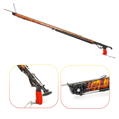HuntMaster (Coming Soon) Wigun Aluminium Invert Roller Speargun - Camo Series (Red) 75cm-110cm