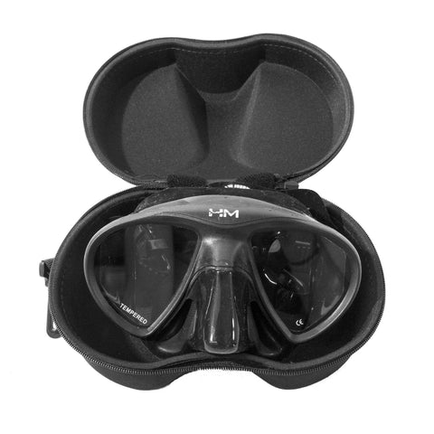 HuntMaster Low Volume Diving Mask Black Bream (GARUMA) - With Complimentary Black Container