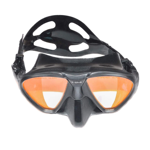HuntMaster Red Emperor Diving Mask (Red Tinted Lense) - With Complimentary Black Container