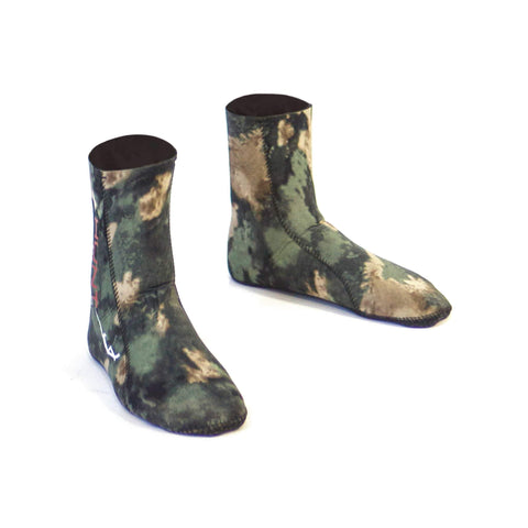 HuntMaster Scout Neoprene Socks - Black and Green Camo (1.5mm and 3mm)