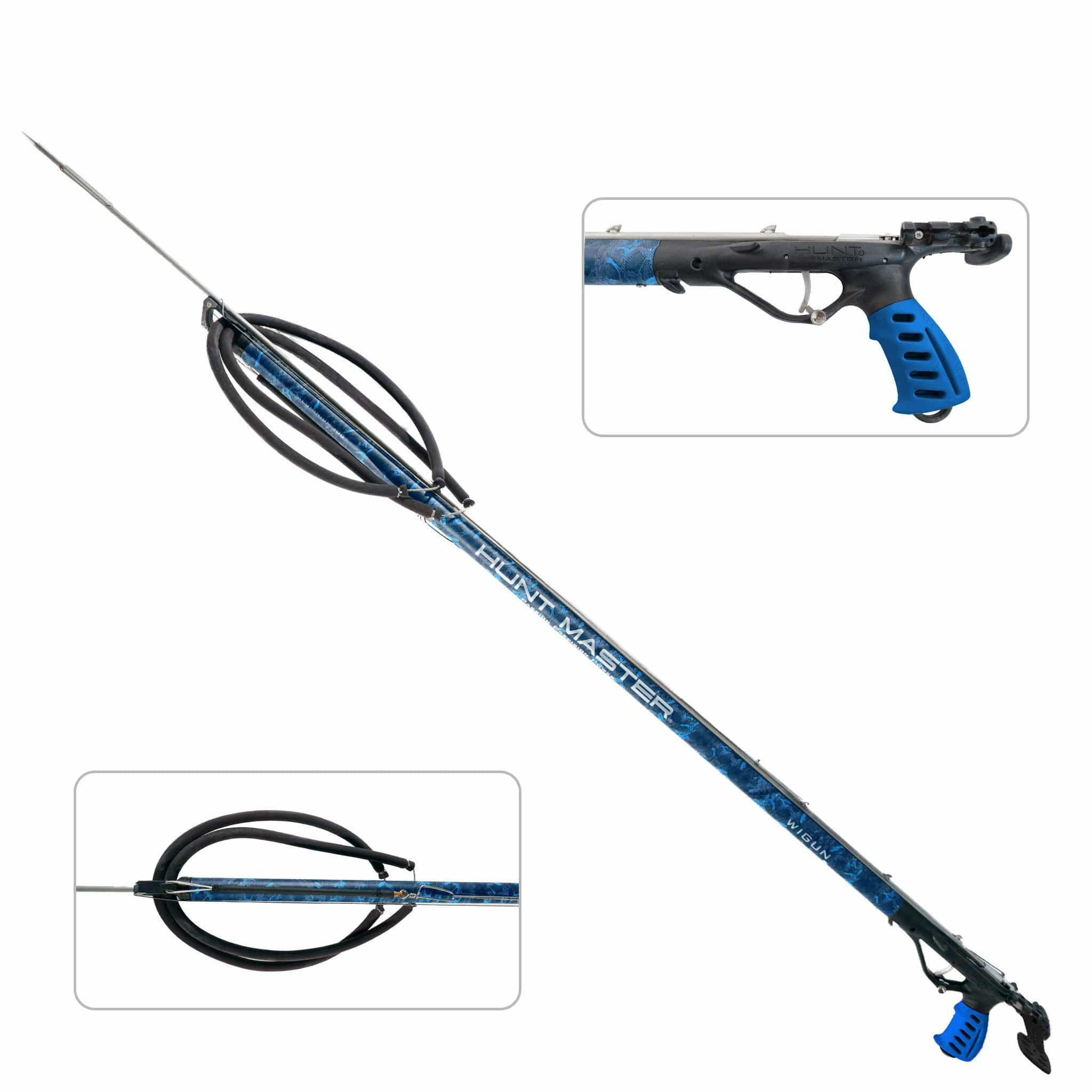 HuntMaster Wigun Aluminium Open Head Speargun - Camo Series (Blue) 75cm - 110cm