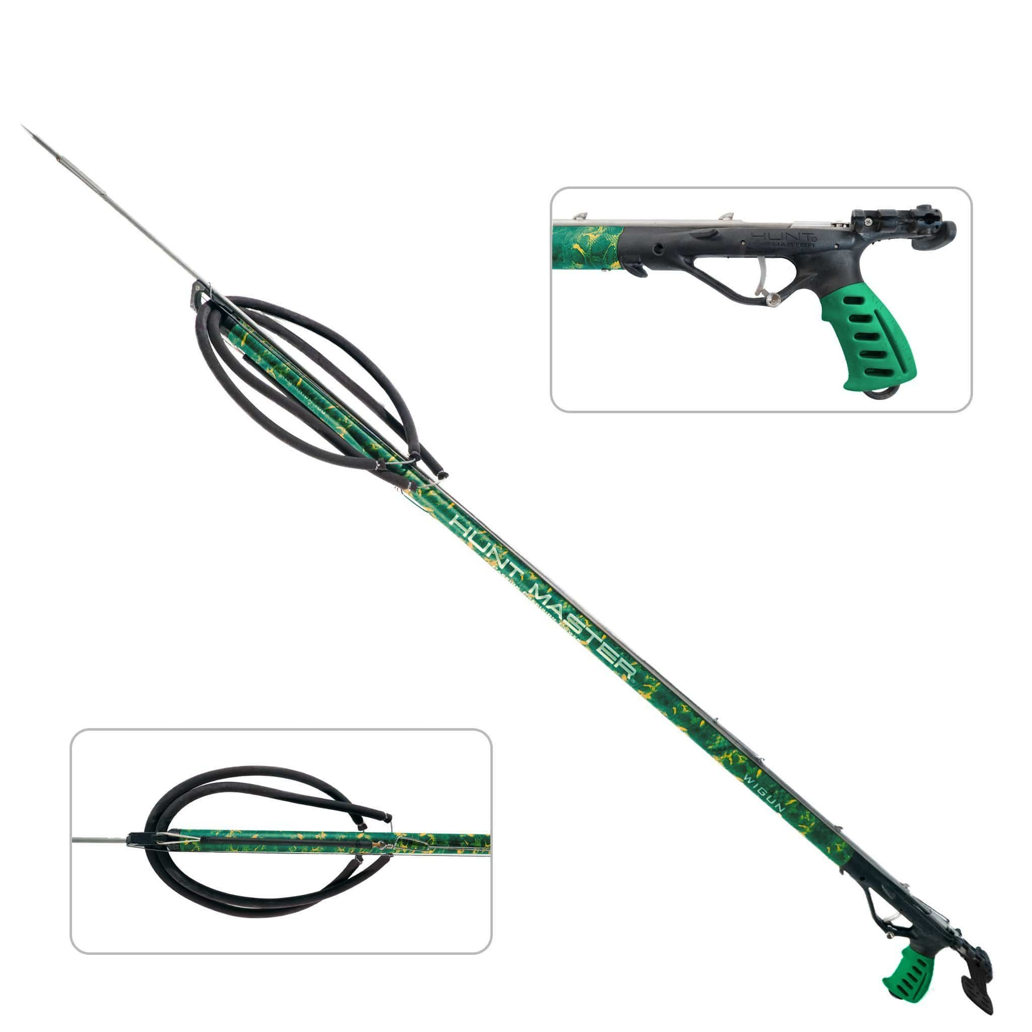 HuntMaster Wigun Aluminium Open Head Speargun - Camo Series (Green) 75cm-110cm