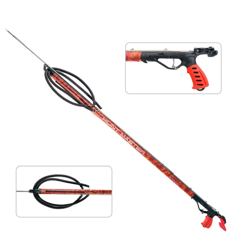 HuntMaster Wigun Aluminium Open Head Speargun - Camo Series (Red) 75cm-110cm