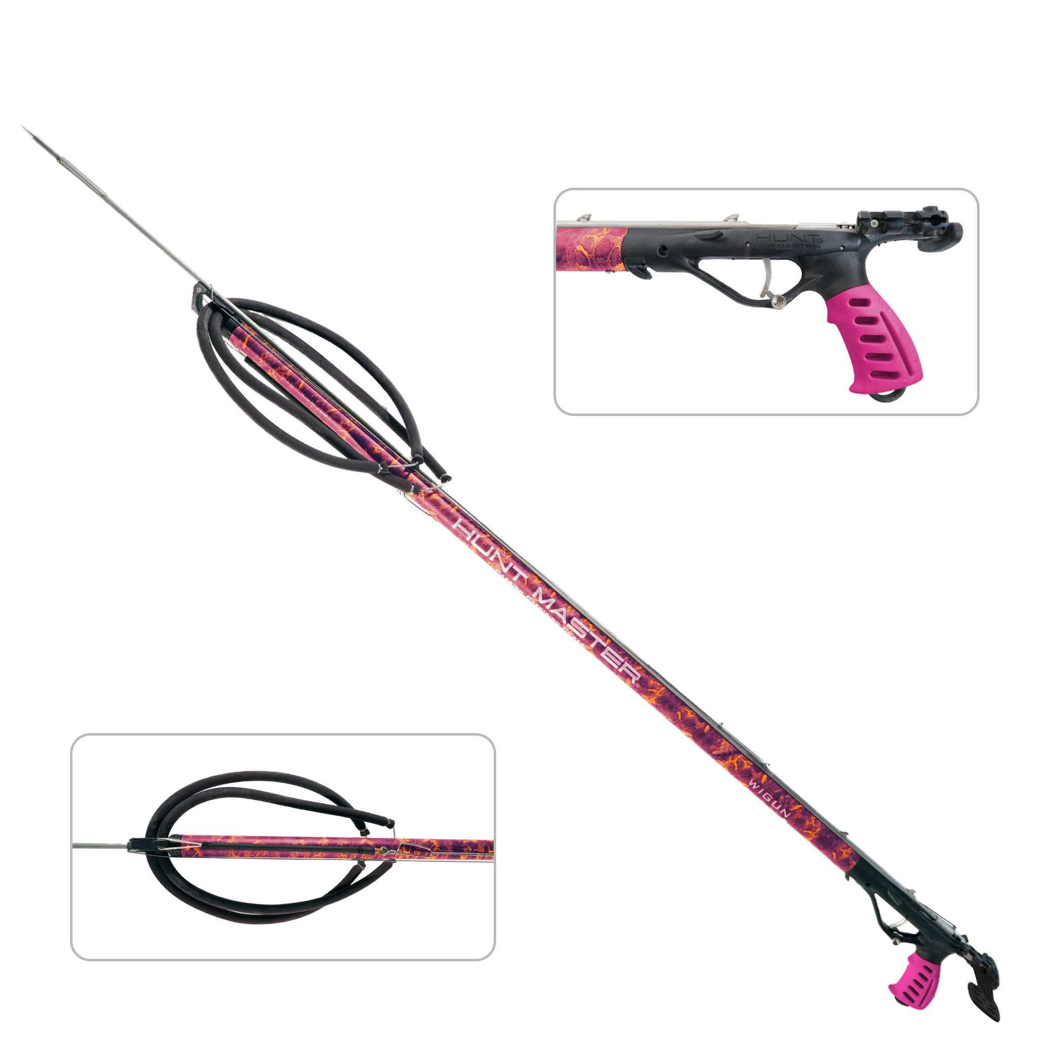 HuntMaster Wigun Aluminium Open Head Speargun - Huntress Camo Series (Pink) 75cm-110cm