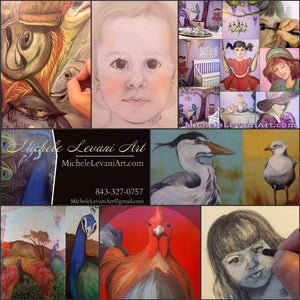 From portraits to murals, Charleston artist, Michele Levani, is available for all your creative needs!