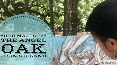 #angeloak #liveoak #charlestonartist #johnsisland #charleston #kiawah #seabrook #pleinair #Paintingthetown #travelingeasel #MicheleLevaniArt