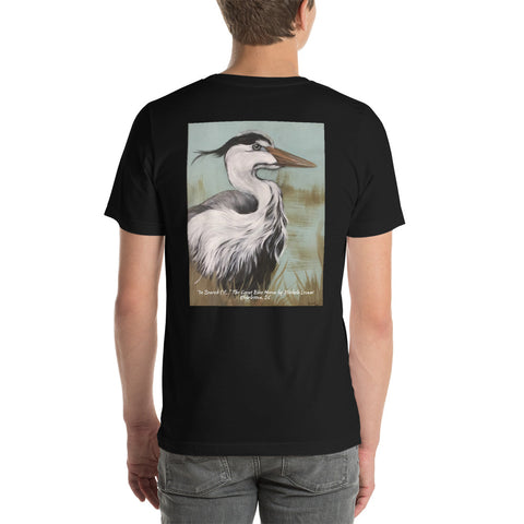 "T-Shirt ""In Search Of..."" The Great Blue Heron Charleston, SC Souvenir"