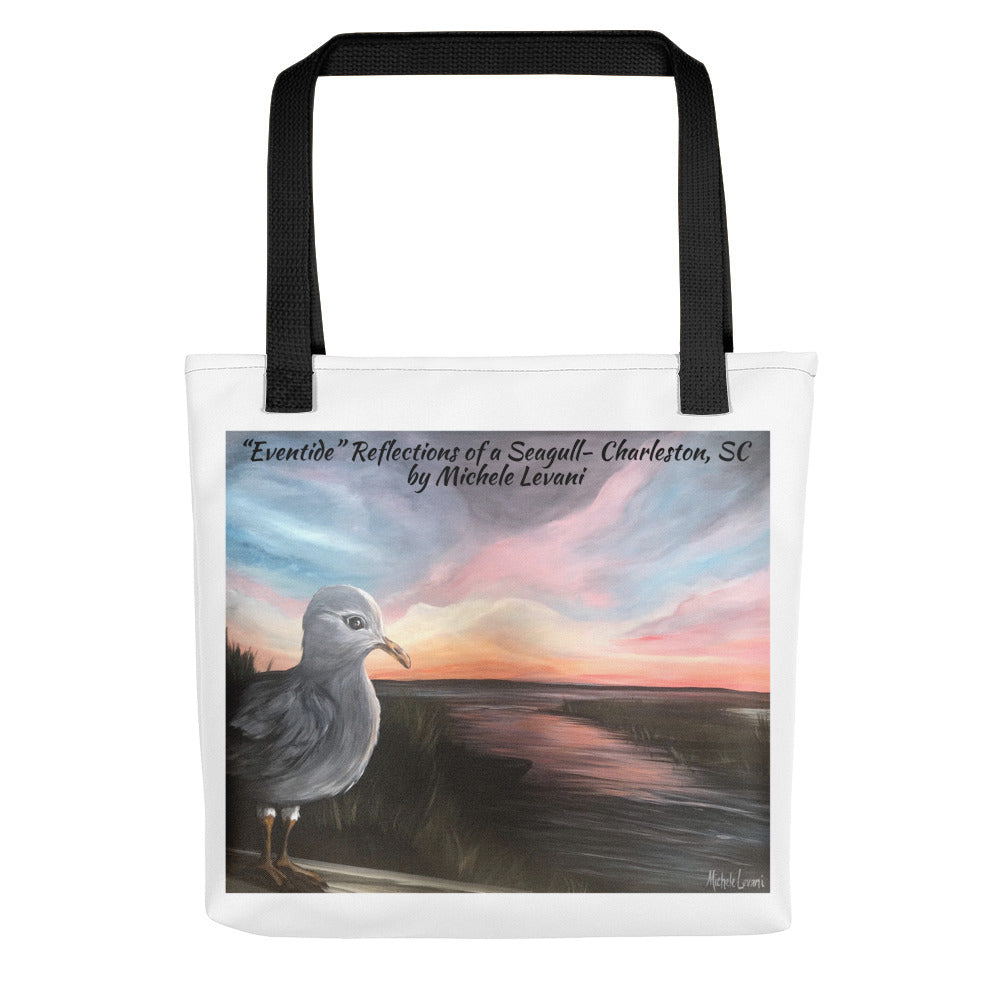 "Tote bag ""Eventide"" Reflections of a Seagull- Charleston, SC Souvenir - Michele Levani Studio"